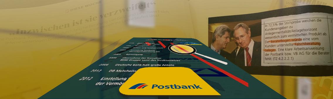 """Nachrichtenmagazin """"Exakt"""" (MDR) berichtet über drohende Verluste tausender Postbank-Kunden"""