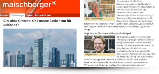 Rechtsanwalt Helge Petersen zu Gast bei Maischberger