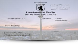 LG Berlin Urteil Postbank Finanzberatung AG
