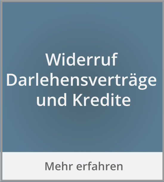 Widerruf Darlehensvertrag